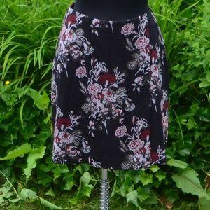 J. Jill 1X Floral Knit Faux Wrap Pencil Skirt